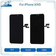 Elekworld testado trabalho bem topo amoled tft rx para iphone x xs lcd substituição da tela com toque 3d digitador assembléia