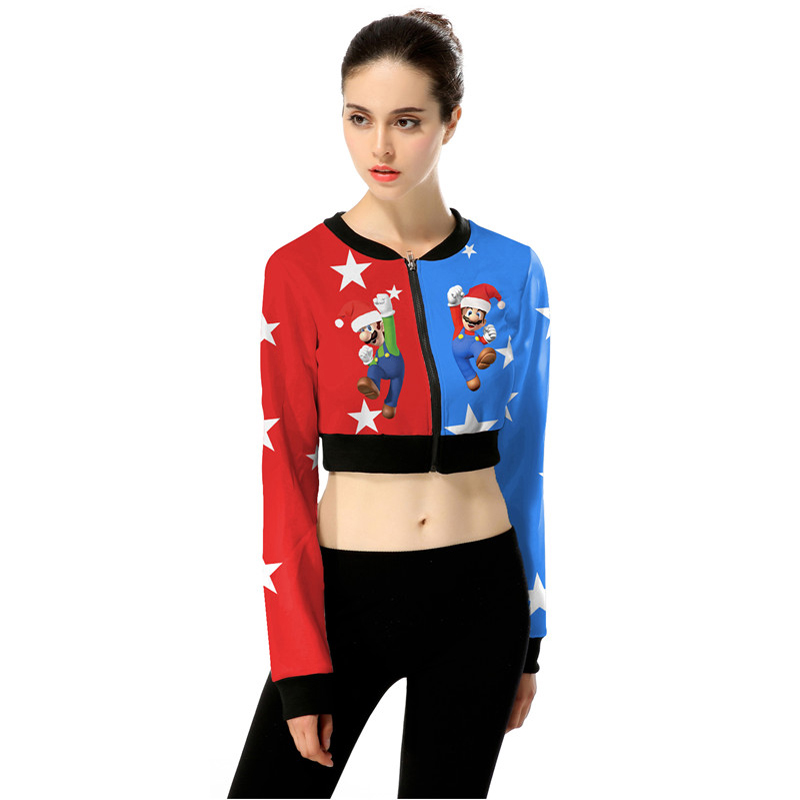 Online Shop Funny Mario Wearing Xmas Hat Print Ugly Christmas ...
