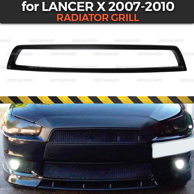 Radiator grill for Mitsubishi Lancer X 2007 2010 without shield ABS plastic body kit aerodynamic decoration
