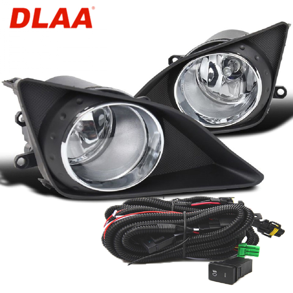 For Toyota Corolla E150 2007-2010 fog lights kit with wires and button DLAA TY277E1