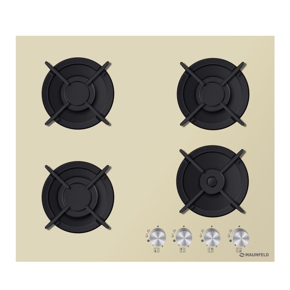 Cooking panel MAUNFELD EGHG.64.1CBGI/G Ivory cooking panel maunfeld eghg 64 2cw g white