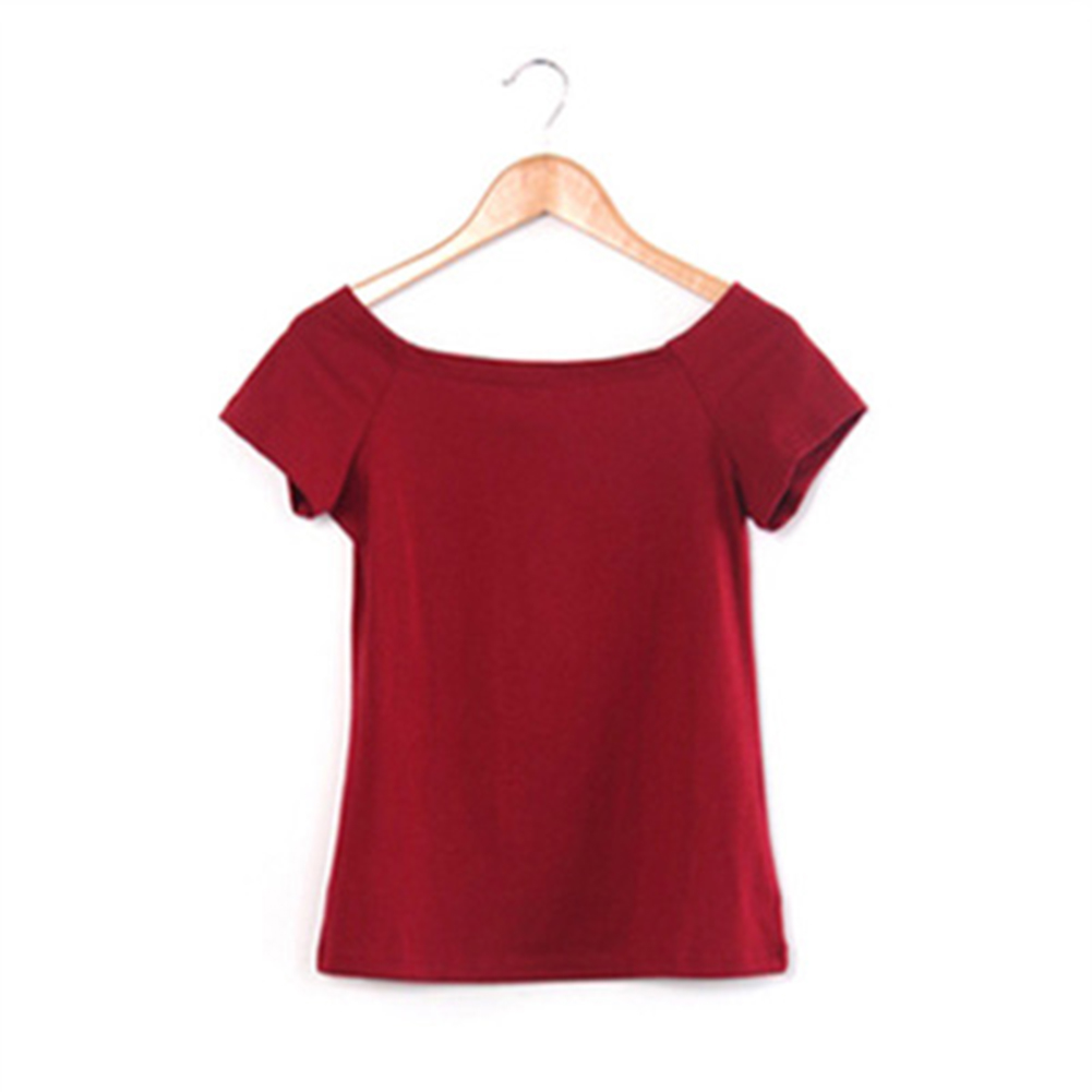 New 2017 Summer Fashion Sexy Off The Shoulder Tops For Women Casual Short Sleeve Cotton T