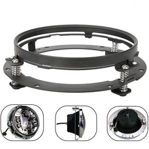 "Image 2 - 7 אינץ עגול LED פנס הרכבה סוגר טבעת עבור רכב ג יפ רנגלר JK לנד רובר defender עבור הארלי אופנוע 7 ""סוגר"