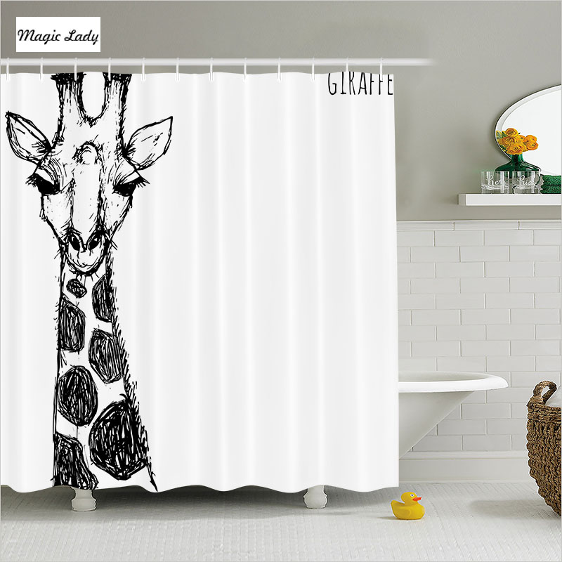 Shower Curtain African Bathroom Accessories Cute Graphic