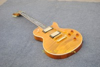 In Stock 1959 R9 Yellow LP Style Standard Best Tiger Fire Electric Guitar Free Shipping