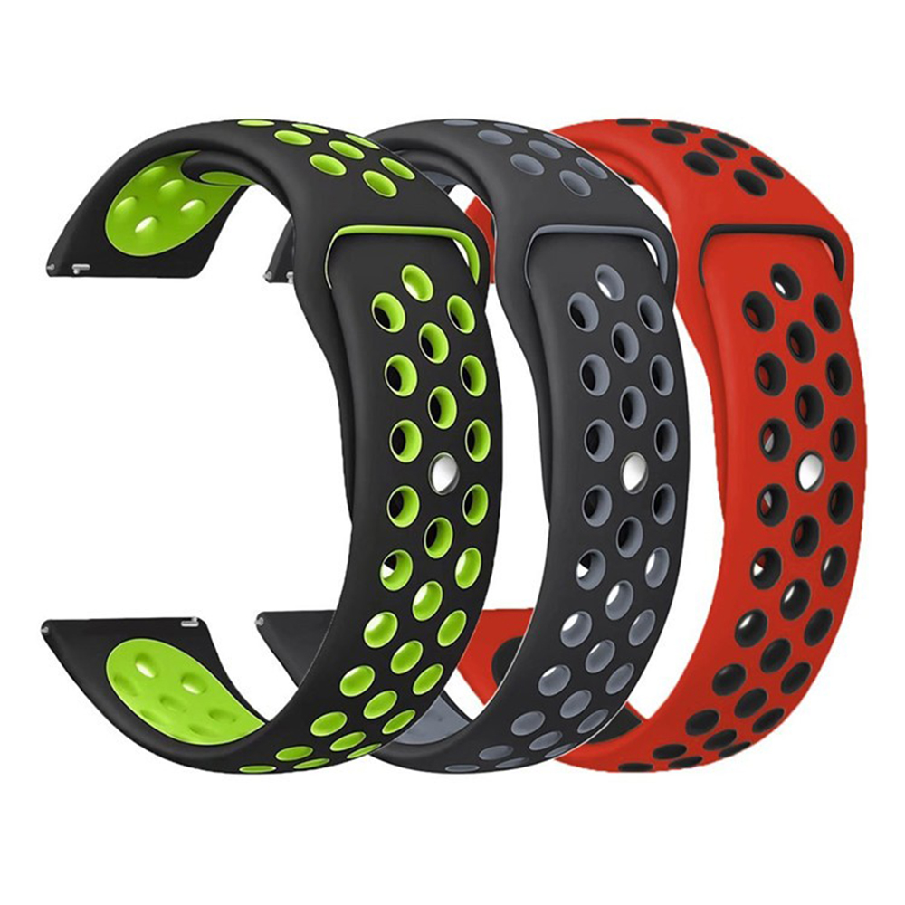Sports silicone Band for Samsung Galaxy Gear S3/S2/Gear Sport Strap For Huami Amazfit Bip/Amazfit 2 20mm 22mm Smart Watchband sports gym arm band case for samsung i9100 galaxy s2 black orange