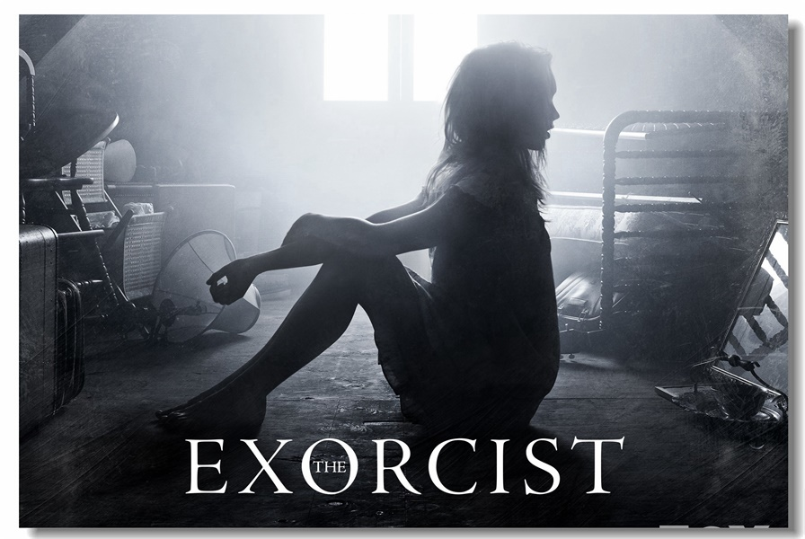 Us 575 28 Offcustom Canvas Wall Mural Horror Film The Exorcist Poster The Exorcist Wallpaper Black And White Stickers Office Decoration 0054 In