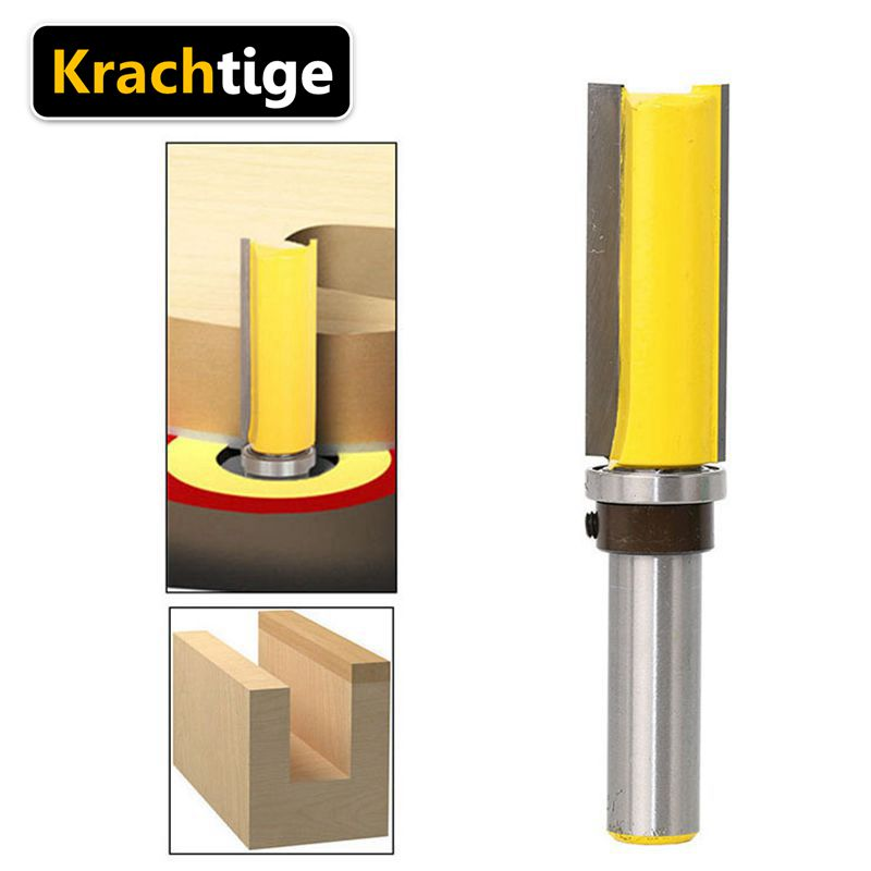 Us 8 94 Krachtige 50mm 1 2 Shank Wood Router Bit Edge End Mill Trimmer Flush Trim Bits Tools Milling Cutter Random Color In Milling Cutter From