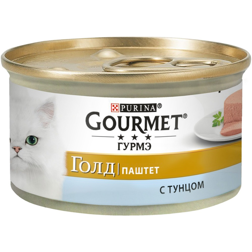 Wet food Gourmet Gourmet Gold Pate for cats with tuna, bank, 12x85 g.