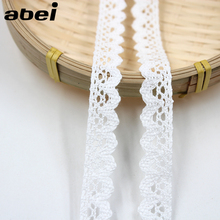 10yards/lot 1.5cm White Lace Ribbon Embroidered Cotton Lace Trims DIY Patchwork Handmade Sewing Material Wedding Craft Scrapbook