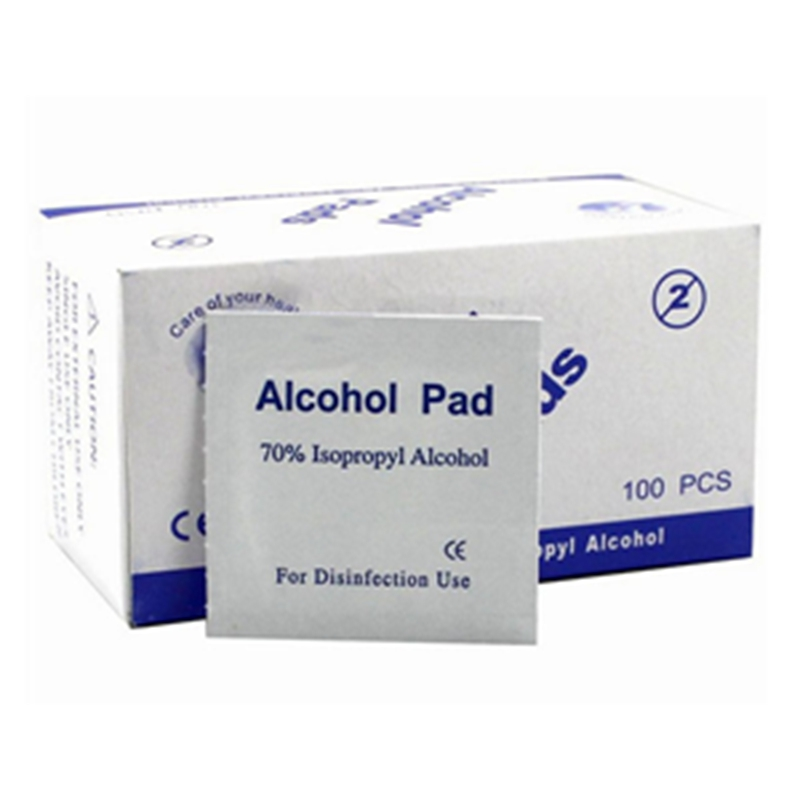 100pcs/Box Portable Box Alcohol Swabs Pads Wipes Antiseptic Cleanser Cleaning Sterilization First Aid Home Makeup