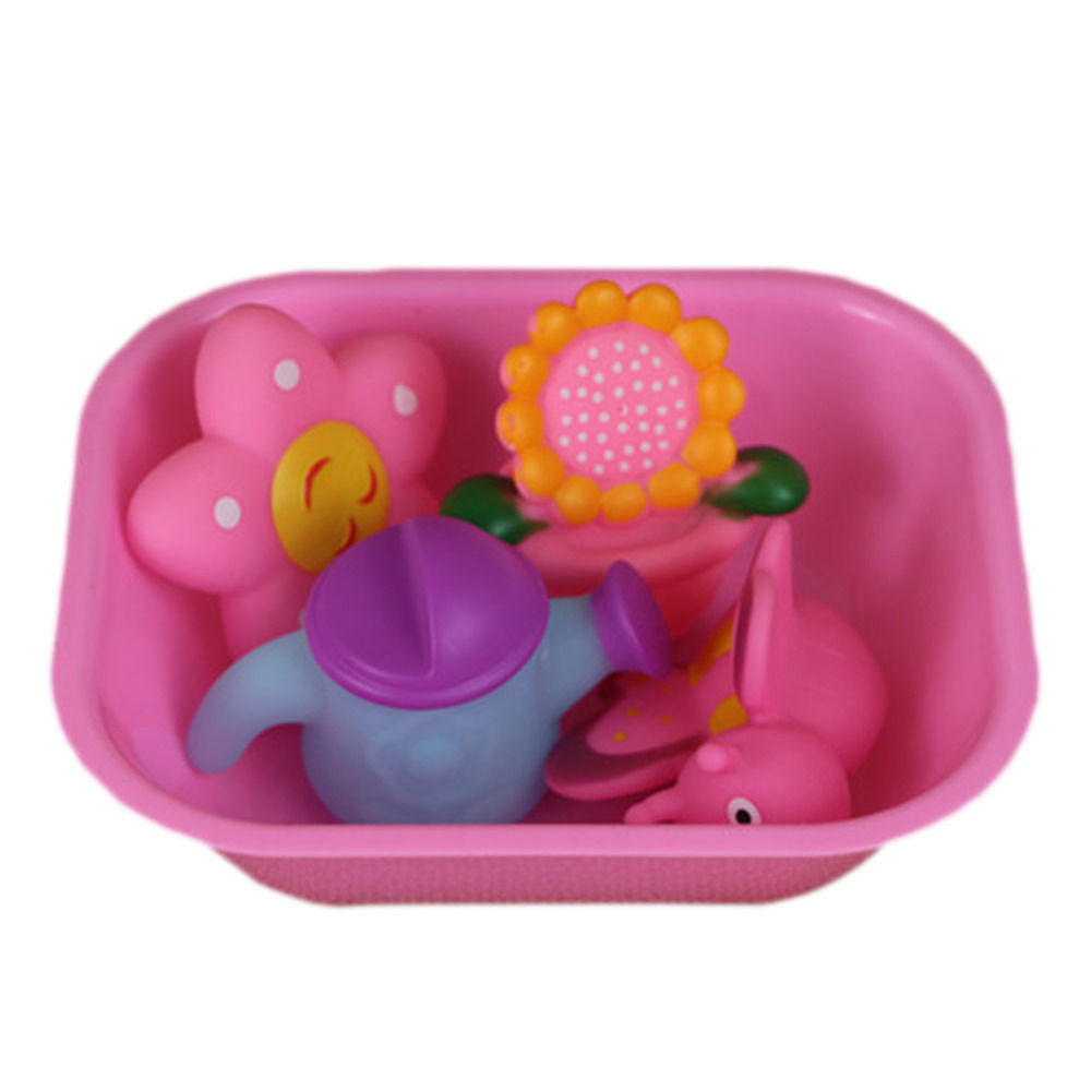 1 Set Baby Bath Toys Small Animal Sounding Pinching Kids Playing In The Water Toy Swimming Beach Outdoor Toys Gift