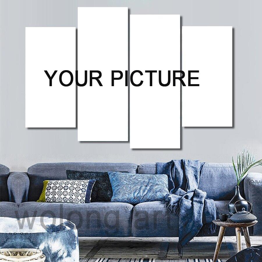 B CM03 ديكور المنزل قماش اللوحة المخصصة يطبع صور فنية للجدران لغرفة المعيشة النفط كوادروس ديكور وحدات المشارك-في الرسم والخط من المنزل والحديقة على  مجموعة 1