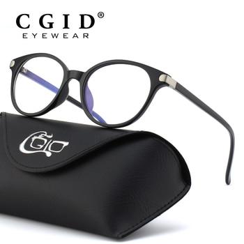 CGID TR90 ラウンドコンピュータメガネ抗ブルーメガネ Pc ゲームゴーグルレトロ眼鏡フレーム 100% UV400 女性のための CT38