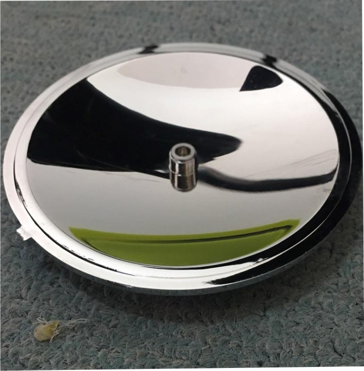 4 pces para fora da porta solar espelho parabolico