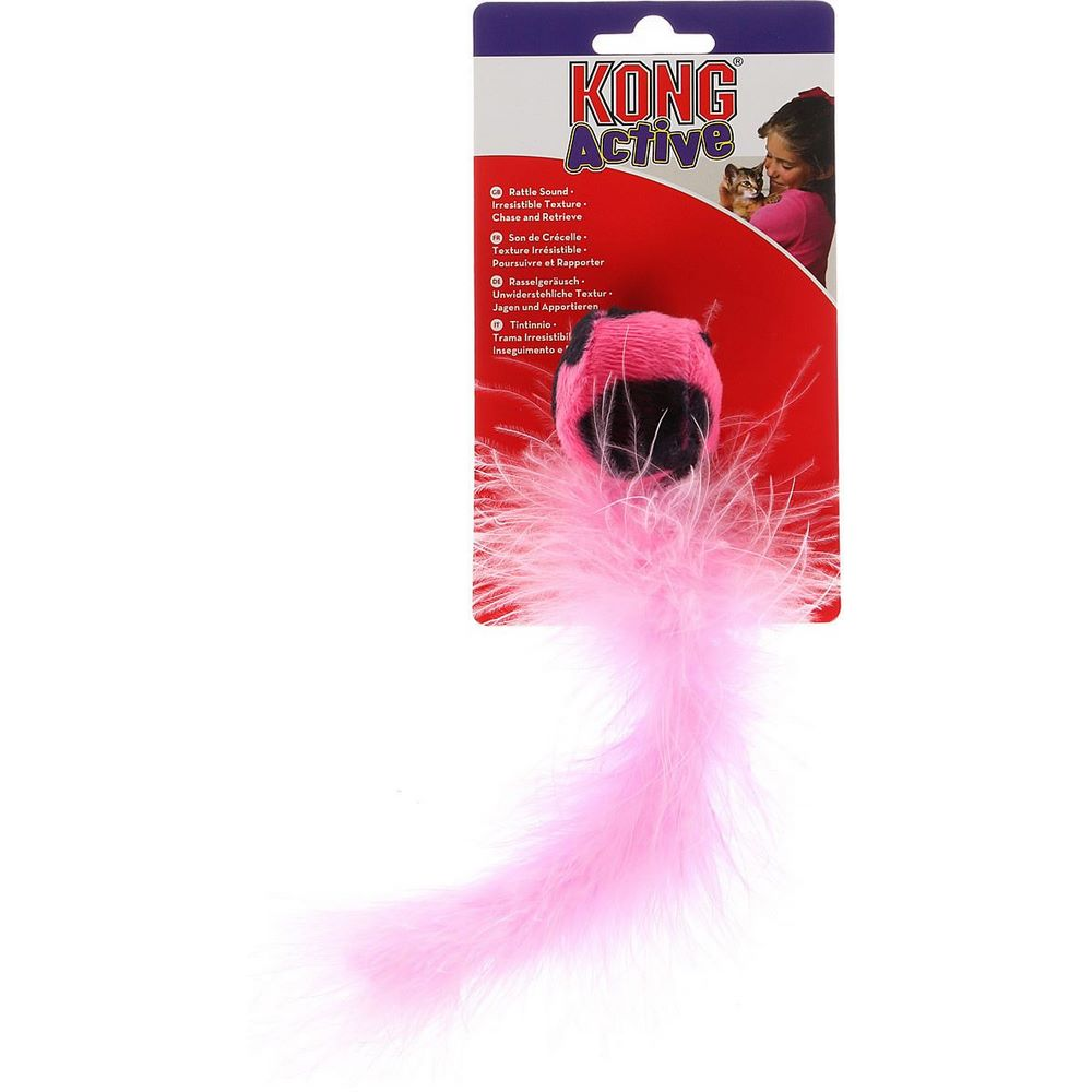 Cat toys KONG toy for cats Wild tail 18 cm with a tail made of feathers, colors in assortment wild feathers wild feathers lonely is a lifetime