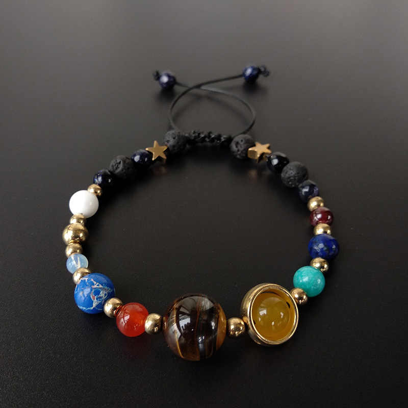 BOEYCJR 9 Planets Pluto Universe Bangles & Bracelets Fashion Jewelry Galaxy Solar System Bracelet For Women or Men 2019