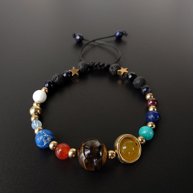 UNISEX Planet and Solar System Bracelet with Natural Stones