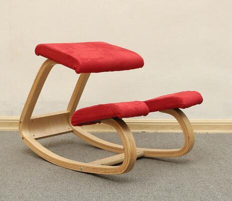 Factory-Ergonomic Kneeling Chair Stool Home Office Furniture Ergonomic Rocking Wooden Kneeling Computer Posture Chair Design