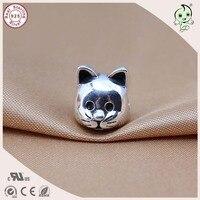 Mode Niedlichen Tier Design 925 Sterling Silber Nette Katze Charme Passend Europäischen Berühmte Silber Armband