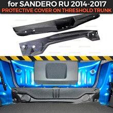 Housse de protection avec garniture en plastique ABS pour Renault Sandero, Stepway (2014 2017), pour coffre seuil