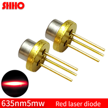 Red light low power TO18/diameter 5.6mm 635nm 5mw red laser diode laser locator accessories laser semiconductor red lamp parts 635nm 638nm 500mw orange red laser diode ld ml501p73 new