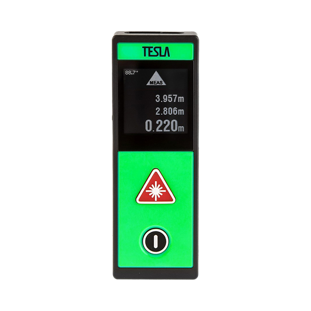 Дальномер лазерный TESLA M-40 Touch, дальность 40 метров, точность ±2,0мм