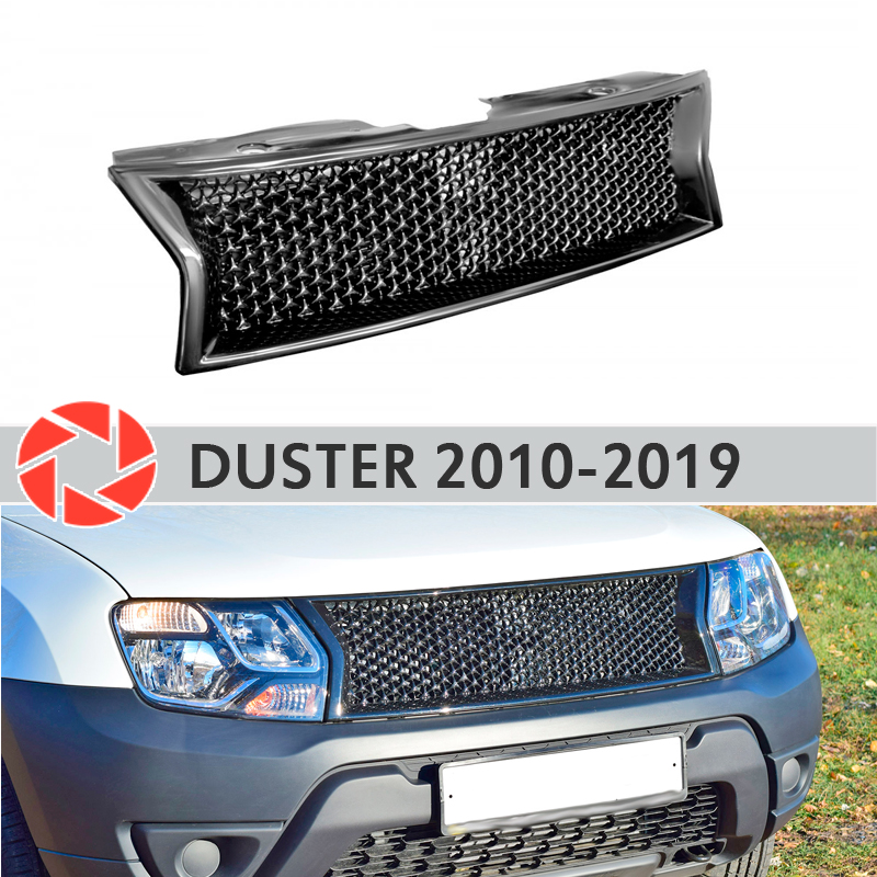 Radiator Grille for Renault Duster 2010-2019 plastic ABS accessories protection car styling front decoration tuning fit for honda vfr1200f 2010 2011 2012 2013 injection abs plastic motorcycle fairing kit bodywork vfr 1200f 10 13 free shipping06