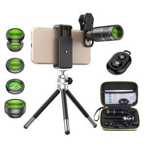 Teleskop 5 w 1 do telefonu komórkowego ze zdalną migawką i statywem telefonicznym mobilny teleobiektyw do iPhone XR XS MAX X Samsung Xiaomi