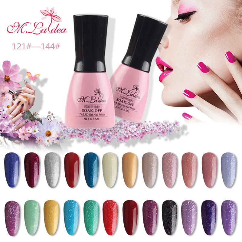 M.Ladea Gel Nail Polish 6.5ML Nail Glue Nail Art 168 UV Gel Color Hybrid Va..