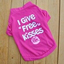 I Give Free Kisses, Рубашка для собак, летняя одежда для маленьких собак, рубашка для собак, одежда для домашних животных, одежда для собак, одежда для девочек, одежда для собак, распродажа E