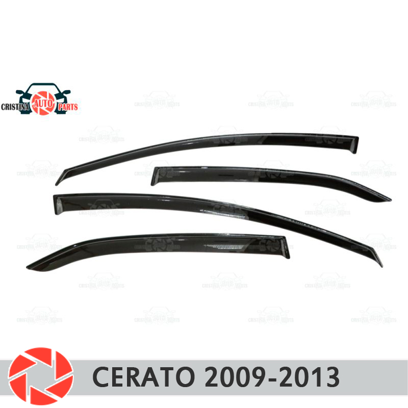 Window deflector for Kia Cerato 2009-2013 rain deflector dirt protection car styling decoration accessories molding car specific led drl daytime running light for kia k3 cerato with yellow turn light function fast free shipping