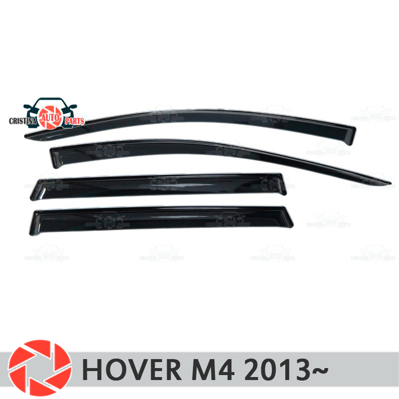 Window deflector for Great Wall Hover M4 2013~ rain deflector dirt protection car styling decoration accessories molding дефлекторы на окна с хромом для great wall hover m4 2012