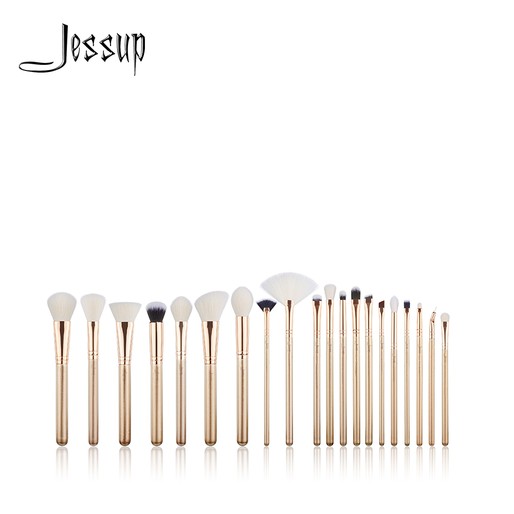 NEW Jessup brushes 20PCS Golden / Rose Gold Professional Makeup brushes set Cosmetic tools Make up brush POWDER FOUNDATION LIP все цены