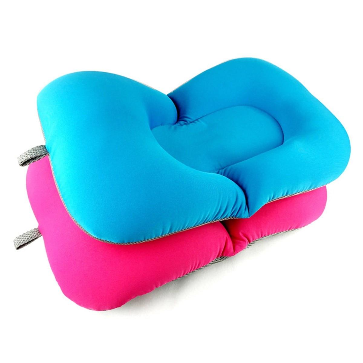 2 Colors Elastic Fabric Baby Bath Tub Air Cushion Lounger