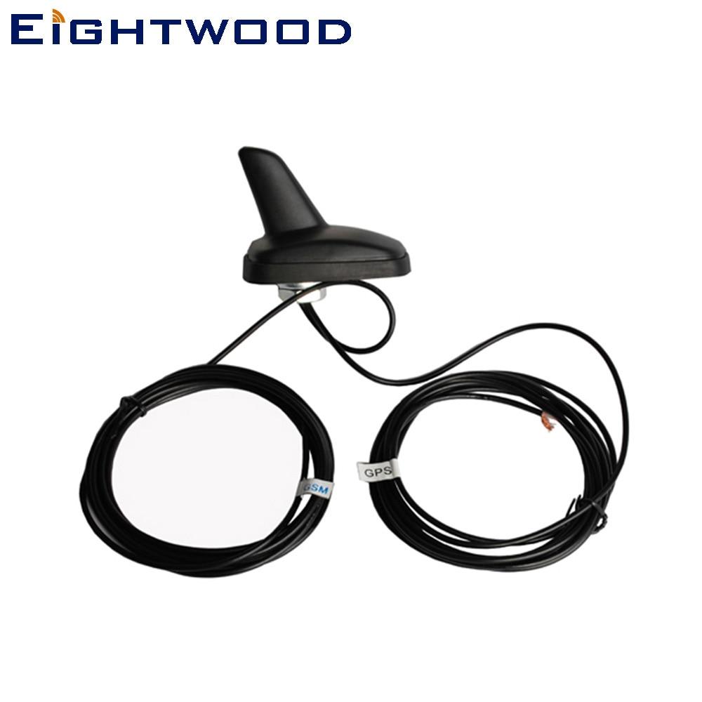 Eightwood Car GPS GSM 3G 4G LTE Antena combinada de tiburón - Electrónica del Automóvil