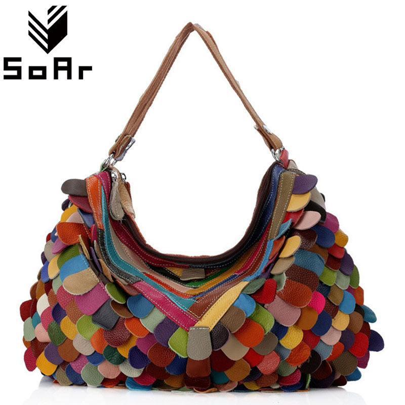 SoAr Cow genuine leather bag luxury handbags women bags designer Patchwork crossbody shoulder bags for women high quality hot 4 soar cowhide genuine leather bag designer handbags high quality women shoulder bags famous brands big size tote casual luxury
