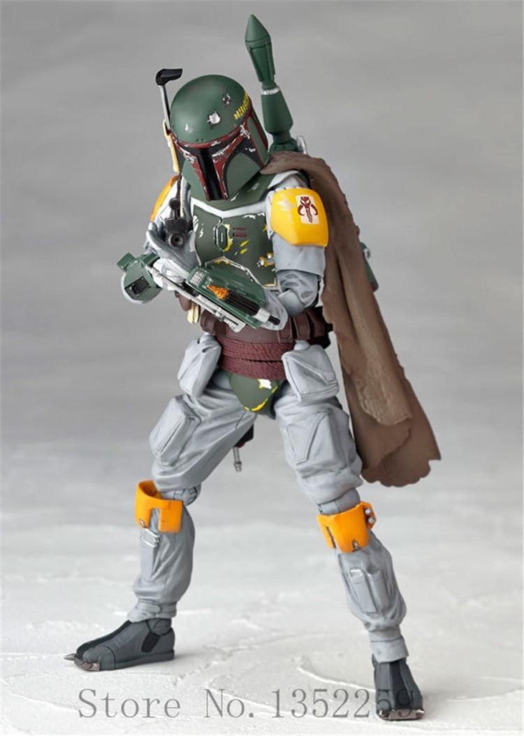 Action figure toys Stormtrooper Collectable Model Revoltech The Bounty Hunter Boba Fett action Model PVC toys 16cm