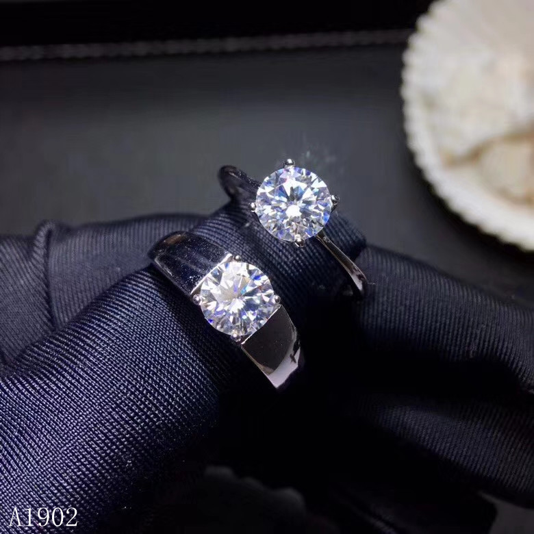 KJJEAXCMY Fine jewelry 925 sterling silver inlaid natural diamonds that female couple ring support detectionKJJEAXCMY Fine jewelry 925 sterling silver inlaid natural diamonds that female couple ring support detection