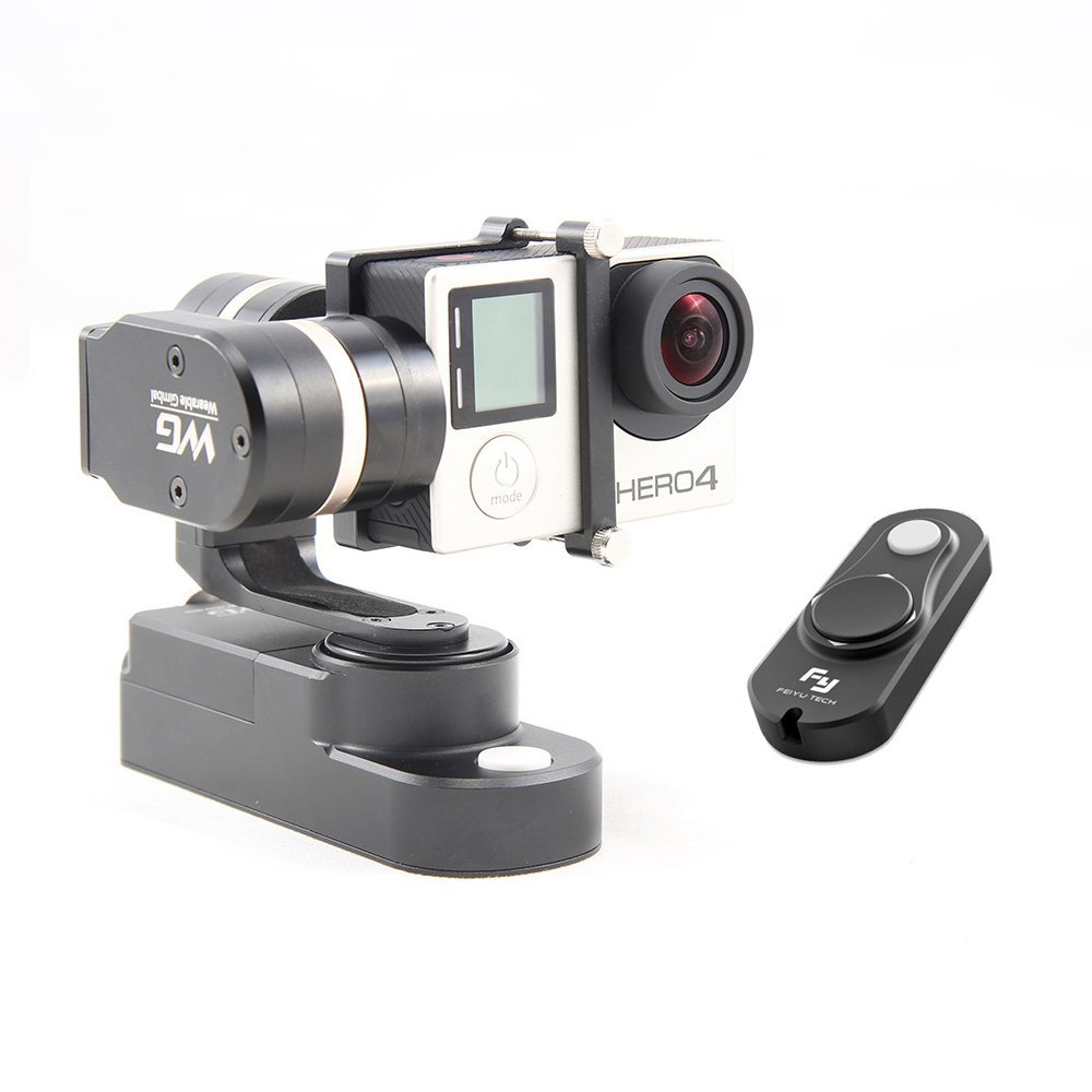 Feiyu FY-WG 3-axis Wearable Gimbal Stabilizer Handled for Gopro Hero 3 3+ 4 LCD Touch BacPac With Wired Remote + Cleaning Cloth feiyu fy g4 3 axis handheld gimbal brushless handle steadycam camera mount for gopro hero 3 3 4 compatible with gopro3 lcd