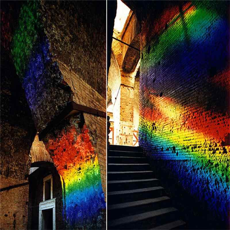 Оптическое стекло треугольная Тройная призма для фотографии обучающая физика светового спектра