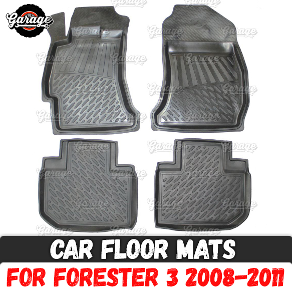 Car Floor Mats Case For Subaru Forester 3 2008-2011 Rubber 1 Set / 4 Pcs Or 2 Pcs Accessories Protect Of Carpet Decoration