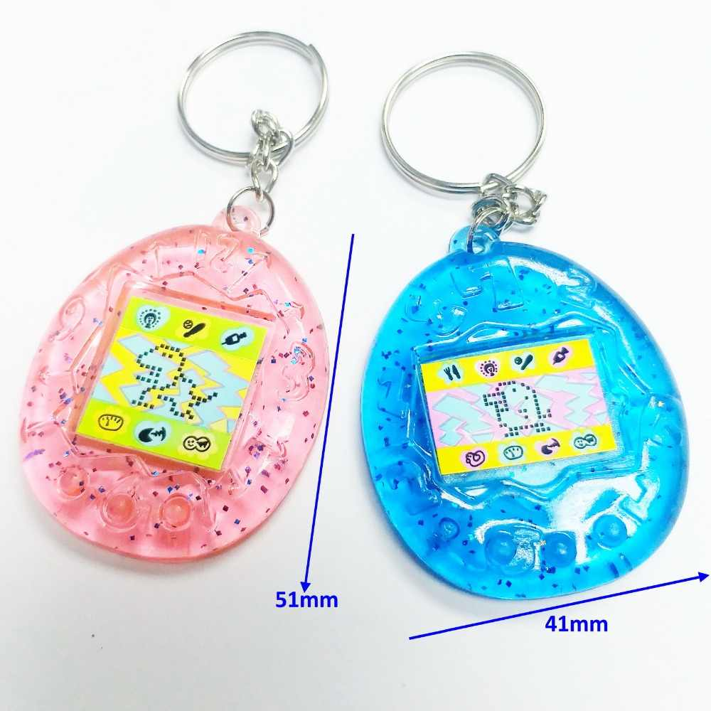2 pcs E562-10 TAMAGOTCHI sticker with key chain Rings Retro Birthday Party favors giveaways gadget souvenirs gift Bag Gag Prize