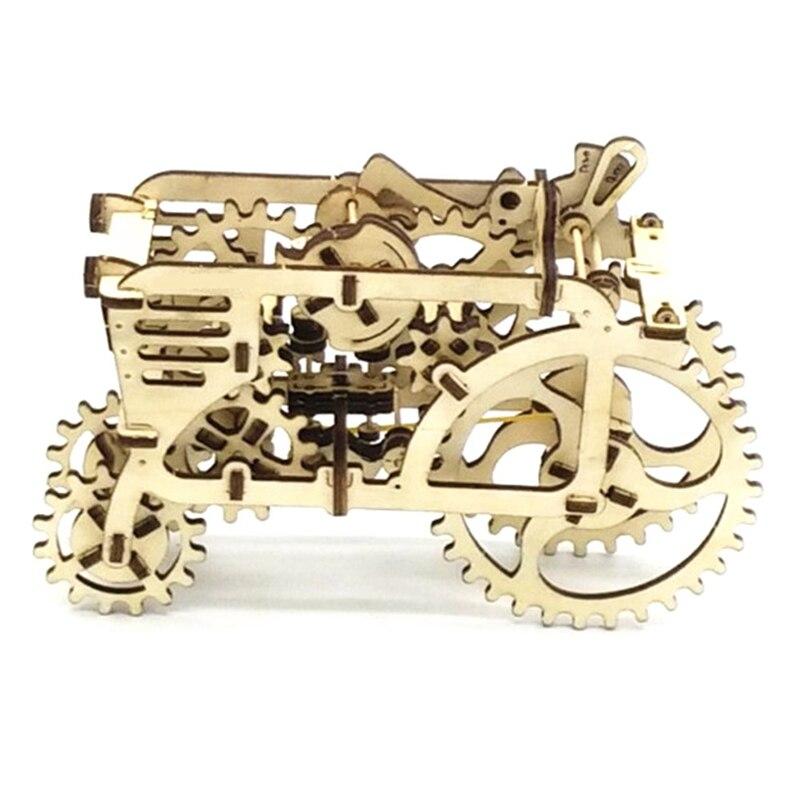 Wooden Mechanical Transmission Model DIY Tractor Assembled font b Toys b font For Ugears Gift Tractors