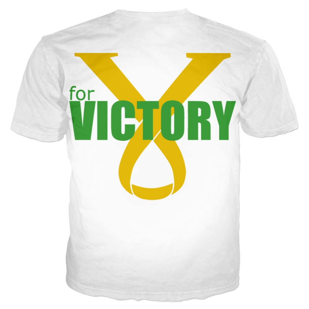 YX Girl 2019 V is for Victory Unisex Tshirt Women Men Short Sleeve Man Tshirts 3d Printed Tops Streetwear 7XL in T Shirts from Women 39 s Clothing