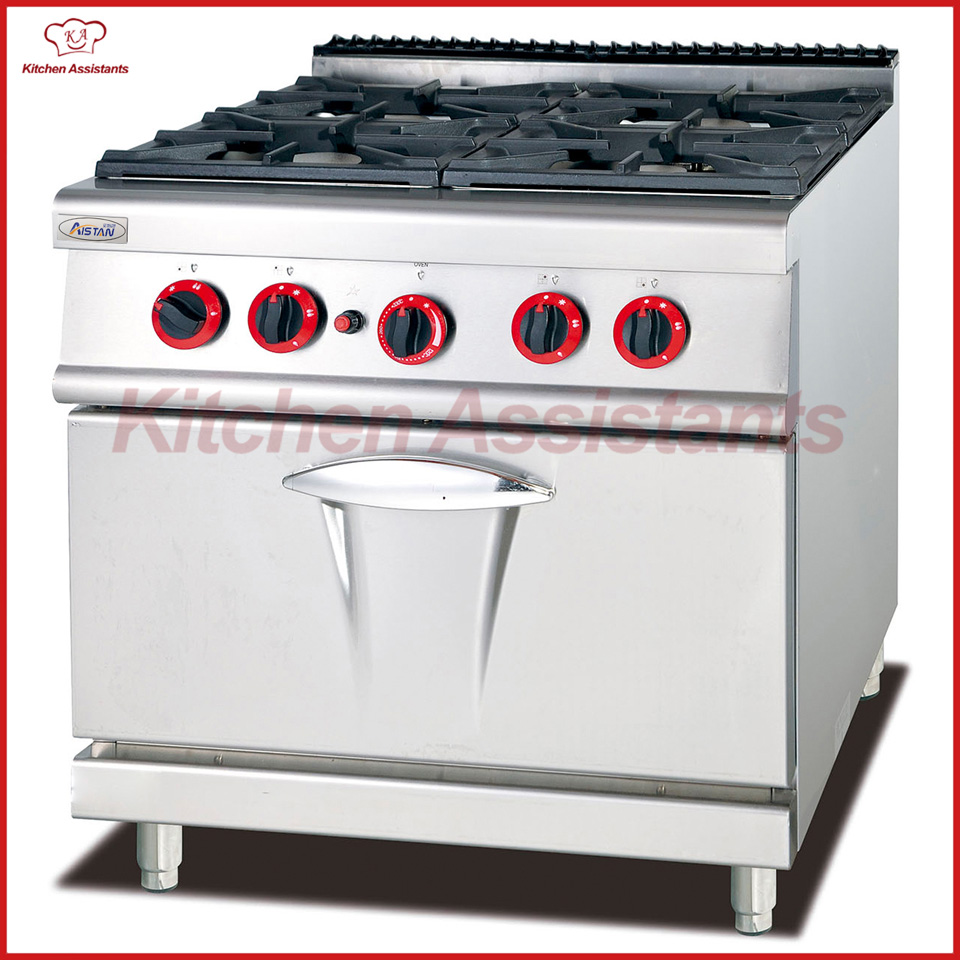 GH987A gas range with 4 burner with gas oven of cooking equipment gh987 gas range with 4 burner with cabinet