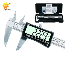 JIGONG stainless steel 150mm Digital Caliper IP54 coolant proof digital Caliper full-screen LCD display
