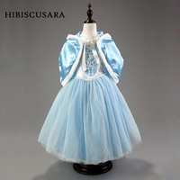Girl Princess Dresses With Cloak Winter Kids Party Wear Halloween Xmas Dress Up Costumes Elegant 2pcs