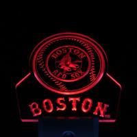 ws0103 Boston Red Sox Baseball Bar Day/ Night Sensor Led Night Light Sign