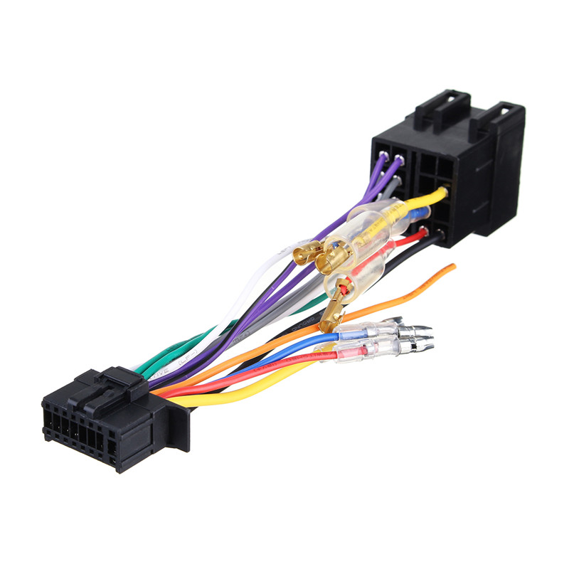 car stereo radio iso wiring harness connector 16 pin pi100 for rh aliexpress com